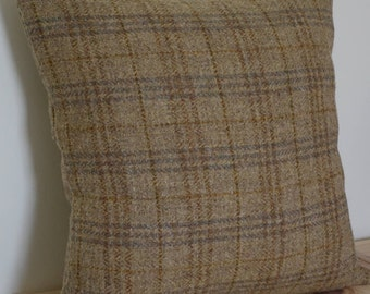 Harris Tweed cushion cover with fibre insert, wool cushion, Brown Cushion,  Scatter cushion, Pillow, Scottish Fabric, Scottish Tweed