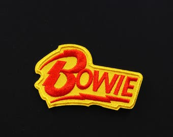 "David Bowie Music  Embroidered   Iron-On / Saw-On  Applique Patch -   3"" X 2"""