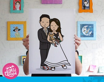 Custom wedding portrait illustration