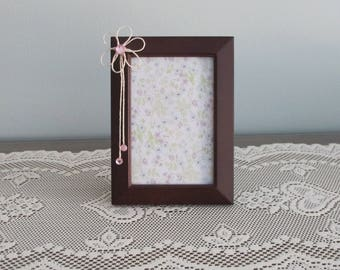 Dark Brown with Ivory Jute Picture Frame