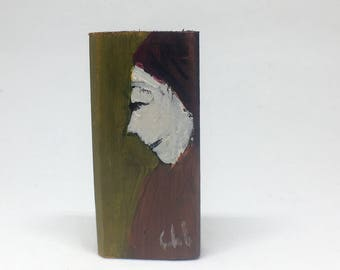 Very little painting on wood, decorative, gift - profile