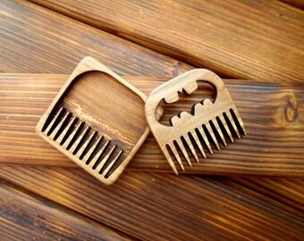 Wooden beard comb Batman beard comb Superhero beard comb Barber shop decor Engraving comb Boyfriend gift Beard care Beard gifts Barbershop