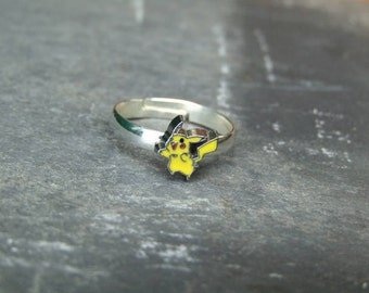 Pokemon Pikachu Inspired Logo Ring