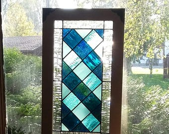 Beach House Stained Glass Panel, Framed In Aspen. Measures 19u0027u0027 X 11 Part 59