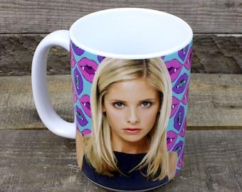 Buffy Summers Mug Buffy the Vampire Slayer TV gifts for her Girlfriend gifts supernatural Feminist girl power Sarah Michelle Gellar