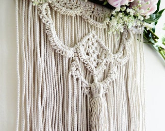 Set of two macrame chair hanger, sweet heart table chair decoration.