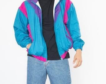 Vintage 90s Rain Bomber Jacket