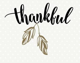 Thanksgiving SVG, Thankful SVG file, Thanksgiving Decor svg design, Thanksgiving Day Shirt svg, Feathers svg cut file, Thanksgiving DXF