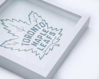 Toronto Maple Leafs | 3D Stencil Art | Shadow Box