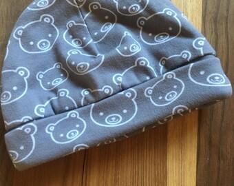 Gray Baby Bear Hat//Baby Hat//