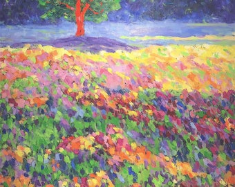 Spring colors-oil painting, unique impressionist style