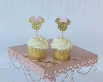 Minnie Mouse Birthday Party - Minnie Mouse Baby Shower - Minnie Mouse Cupcake Topper-Minnie Mouse Birthday Party Decor-Minnie Mouse Birthday