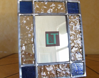 Portrait of leaded glass.