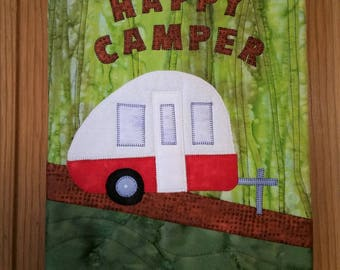 Happy Camper Quilted Wall Hanging
