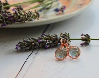 Rose Gold Earrings - Drop Earrings - Sparkly Earrings - Matching Set - Rose Gold Jewellery