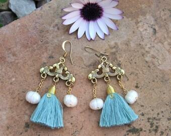 Fringe earrings. Gypsy earrings. Boho chic Earrings. Boho chic Jewelry. Boho chic earrings.