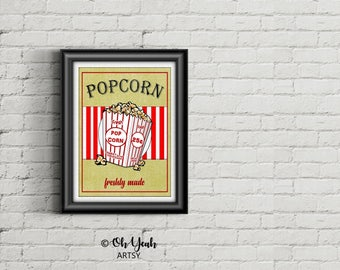 Theater Popcorn Art Print