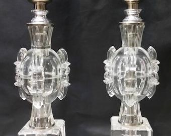 Crystal Boudoir Lamps Ca. 1920