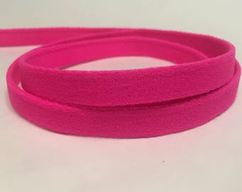 1/3/5 Yards - 11mm Hot Pink Bra Plush Underwire Channeling