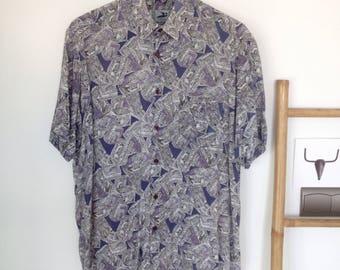 Vintage shirt short sleeve, size M