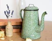 French Enamel Coffee Pot,...