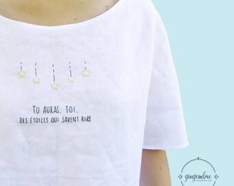 Little Prince-Blouse Maxi Les étoiles
