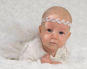 Newborn Crown, Photo Prop Baby Crown Headband, Newborn Princess Crown, Photo Prop Baby Tiara, Newborn Rhinestone Crown, Newborn Headband