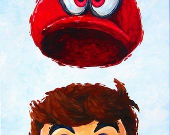 Mario Odyssey Painting - Print