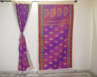 GIFT Indian quilt Hippy curtain Cotton Indian curtain Boho curtain gypsy curtain partition room divider recycled vintage BohemiancurtainQC39