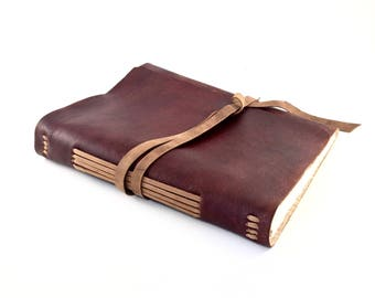 Huge Personalized Refillable Leather Journal, Huge Personalized Refillable Leather Notebook, Personalized Leather Journal, Leather Journal