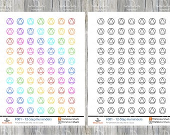 12-Step Meeting Planner Stickers: Alcoholics Anonymous AA