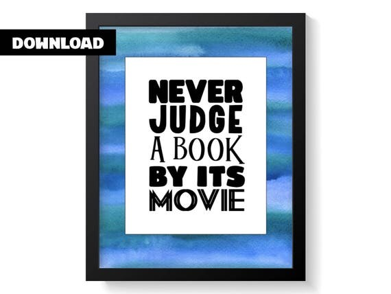 Book movie art print - Book lover wall art - Prints for book nerds - Prints for book lovers - Bookworm art print - Book lover poster gift