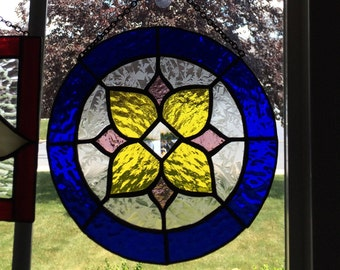 Stained Glass, suncatcher, circle