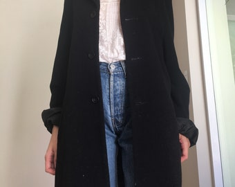 Wool and Cashmere oversized button down coat, S/M/L