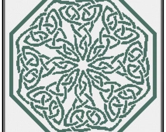 Knotwork Octagon Cross Stitch Pattern paper copy