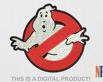 Ghostbusters No-Ghost Sign machine embroidery design. Embroidery file