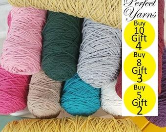 10 mt-20 mt Cotton macrame yarn, %100 cotton,  macrame rope, cotton yarn, macrame, 10 color, macrame cord, rope cord , cotton cord, cord,