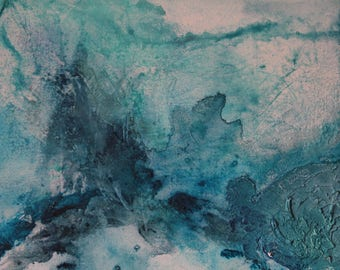 Modern abstract painting: water