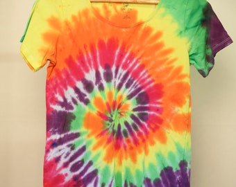 Ladies Size 12 - Ready To Ship - Unisex - Festival - Tie Dyed - T-shirt - 100% Cotton - FREE SHIPPING within Aus