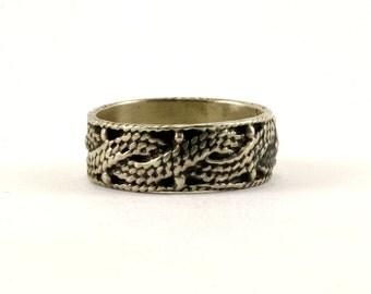 Vintage Braided Design Band Ring 925 Sterling RG 3617