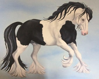 the gypsy vanner cob horse painting