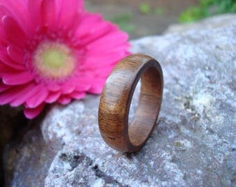 Walnut Ring (10 1/4) Earth Ring/Earth Jewelry/Handmade Ring/Wood Jewelry/Wooden Ring/FromHerTrees/Hypoallergenic/Tree Energy/Organic Jewelry
