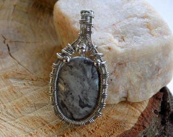 Wire Wrapped Dolomite Pendant - Wire Wrapped Stones - Unique Handmade Necklace - Gifts for Her - Egyptian Jewelry - Heady Wire Wrap