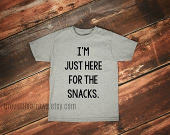 I'm Just Here For The Snacks Tee // Funny Shirt // Funny Toddler // Funny Baby T-Shirt // Disney Shirt // Baby Shower Gift // Birthday Gift