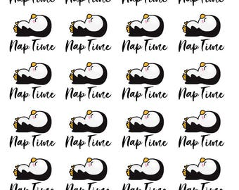 Penguin Nap Time - All Planner Sizes - Erin Condren, Happy Planner, Recollections, Paper Plum, TN
