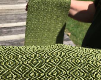 Green Cotten Hand Woven Scarf