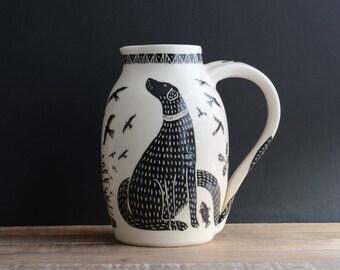 Ceramic water jug BLACK LABRADOR