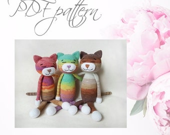 Crochet cat, PDF pattern, DIY toys,  Amigurumi Animals
