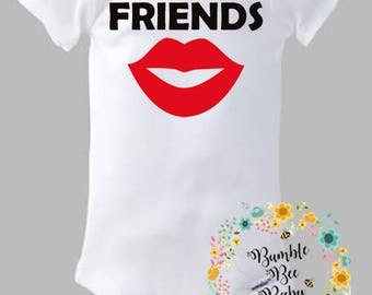 Best Friends, Twins, Mustache, Lips, Twin Set, Preemie and Up, Makes An Awesome Baby Shower Gift!!