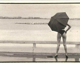Cannes Film Festival 1984 - Vintage french postcard - Photography black and white - Authentic edition from France - Art photo collection -